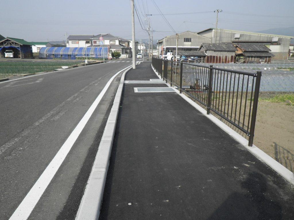 賀集91号歩道設置工事